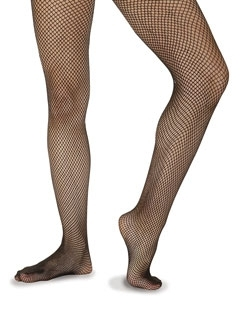 Fishnet footed tights
