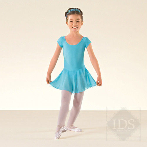 ISTD leotard with attached voile skirt